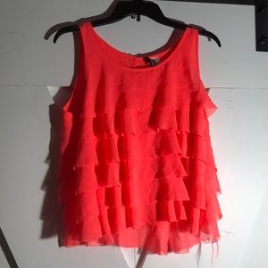 Divided Ruffle Tank